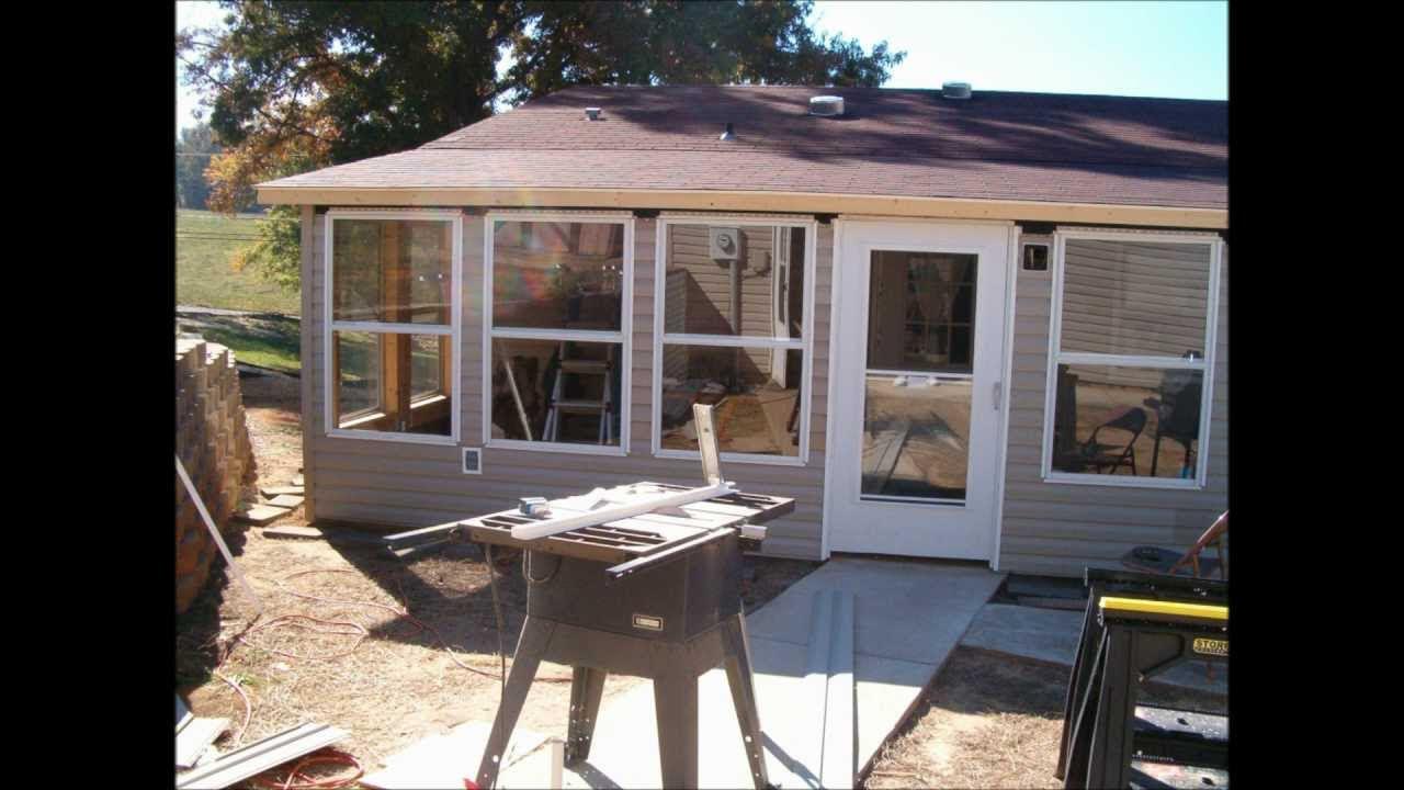 back porch enclosure - YouTube
