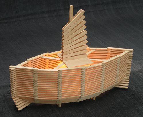 barco de palito d epicole – Reciclagem no Meio Ambiente – O seu