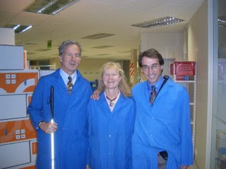 Mike, Sheri, and Charles on the factory tour