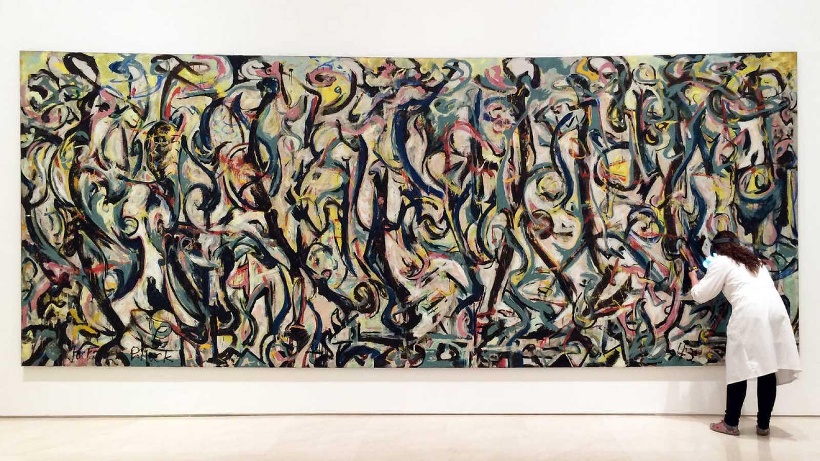 Mural Cuando Jackson Pollock Pario El Expresionismo Abstracto