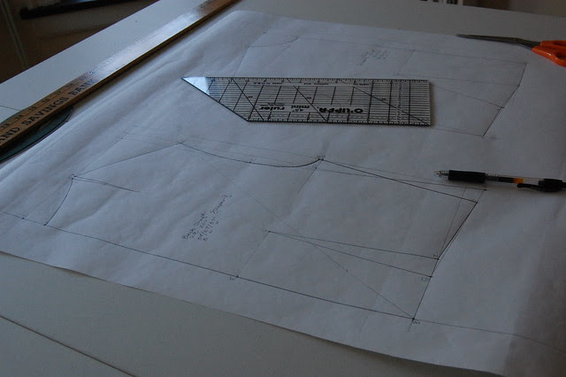 pattern drafting.