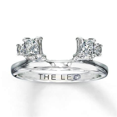 Leo Diamond Enhancer Ring 1/2 carat tw 14K White Gold