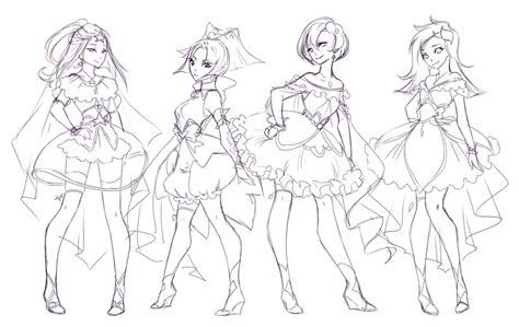 magical girls regular group sketch  rika dono