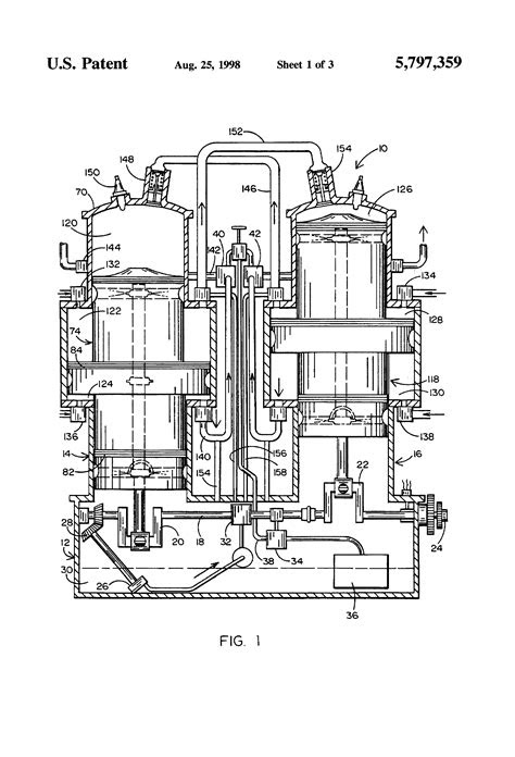 Patent US5797359 - Stepped piston two-cycle internal