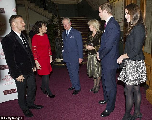 Bastidores: Barlow conversou com a realeza antes que eles tomaram seus assentos no Box Real