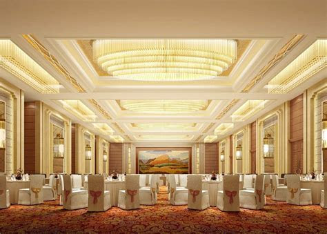 Five star hotel banquet hall with carpet   five stars