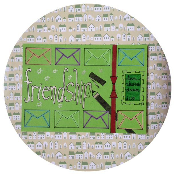 Day 22: friendship what better friendship is there then someone you write to. I share my whole self this way than to someone I see in person. #doodleadaymarch #doodleaday #postcard #snailmail #friendship #envelope #pen #stamp