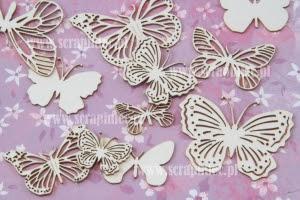 Motylki ażurowe mix 3 rozmiary