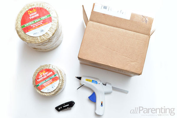 allParenting twine-wrapped storage boxes materials