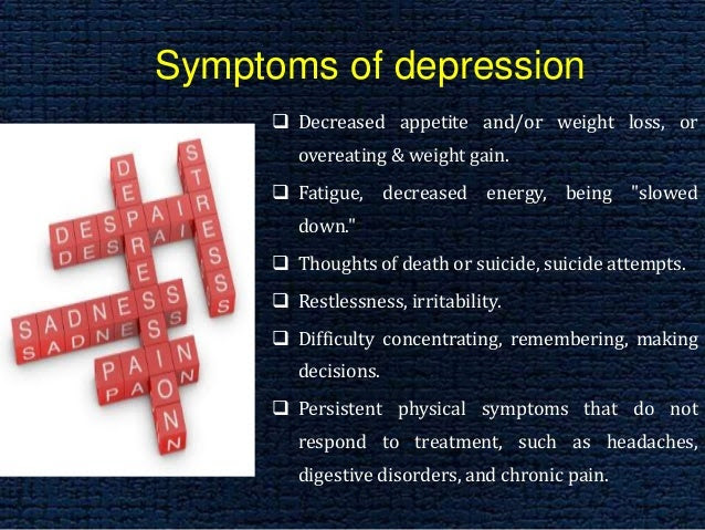 Effective treatment in depression and anxiety