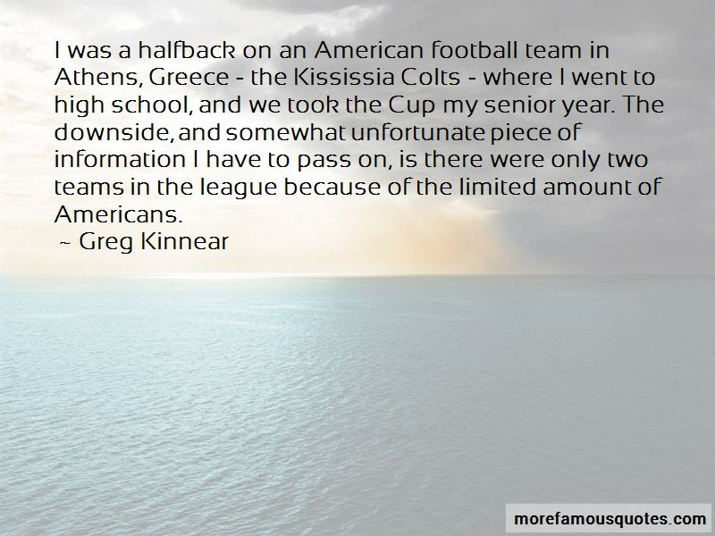 High School Senior Year Football Quotes Top 3 Quotes About High