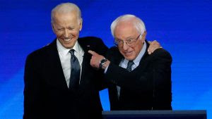 Joe Biden and Bernie Sanders, on the same team.