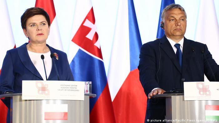 Beata Szydlo und Viktor Orban in Warschau (Foto: picture alliance/Pacific Press Agency/J. Ratz)