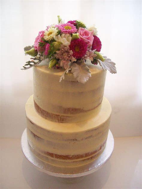 Semi Naked Wedding Cake Auckland $450   Wedding Cakes
