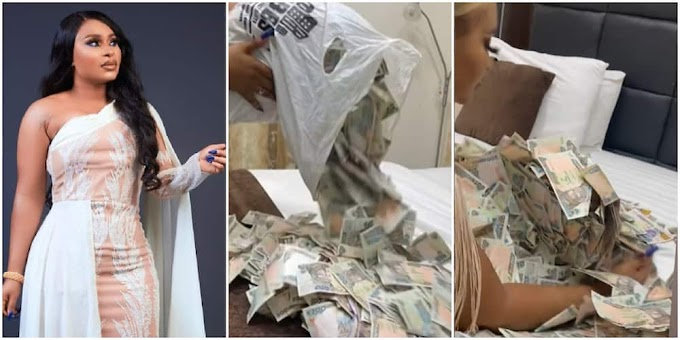 All I See Is Change: Reactions As Actress Okam Shares Video of N200, N500 She Gathered From Birthday Party