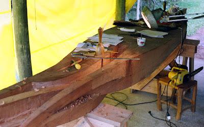 wooden sculpture-process