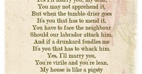 Yes I'll Marry You My Dear by Pam Ayres ~ a favourite fun