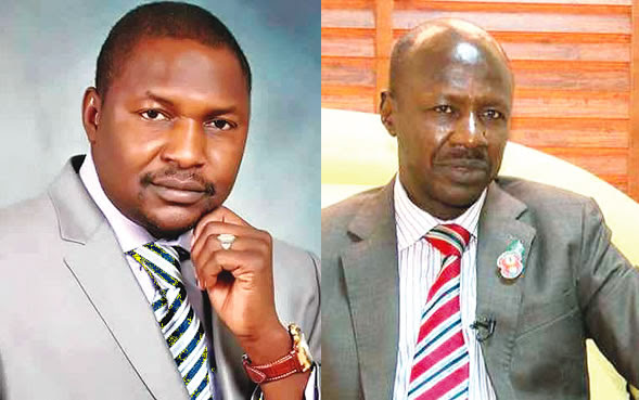 Image result for Magu, AGF may clash over corrupt ex-govs, senators