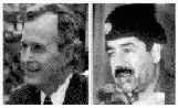 George H W Bush and Saddam Hussein