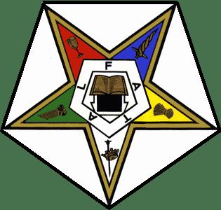 O símbolo da OES é uma estrela invertida, semelhante ao Estrela Flamejante da Maçonaria.