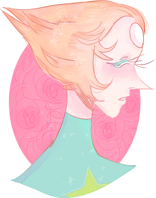 messy drawing of pearl from steven universe ^_^/
