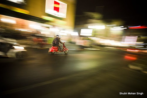 Whizzing down the Malioboro Street, Yogyakarta by Shubh M Singh