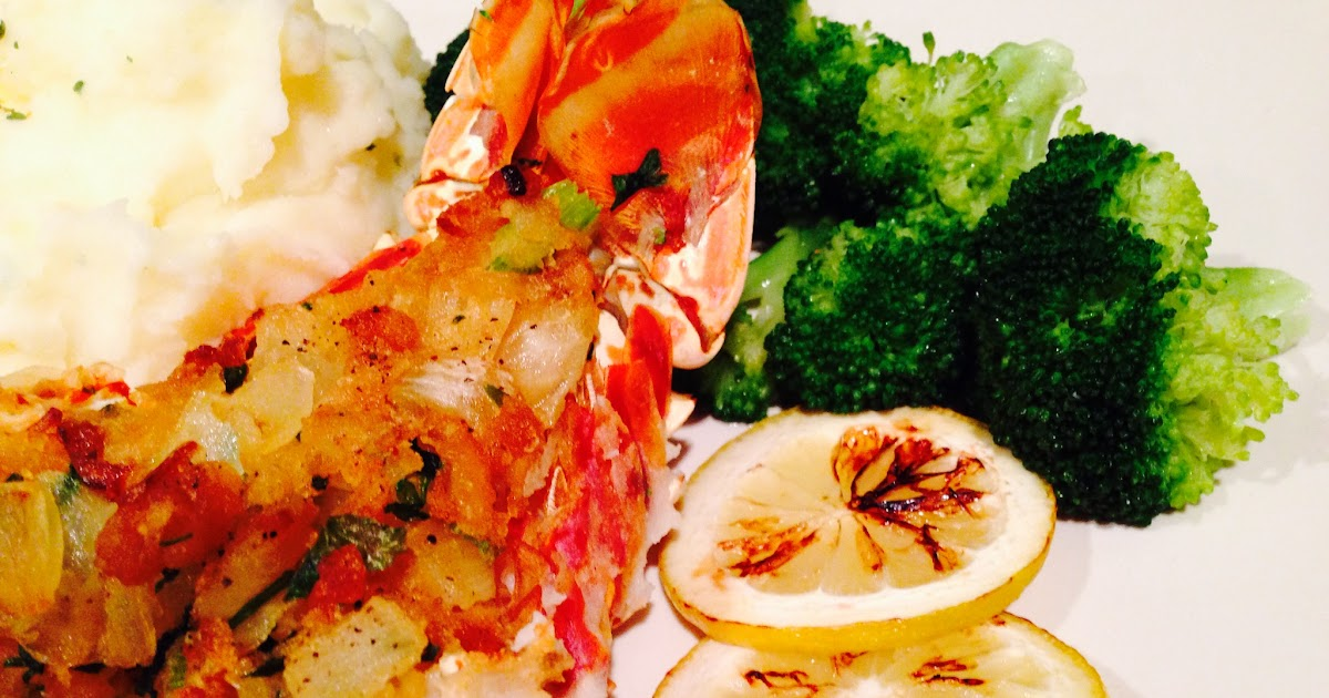 Easy recipes with a touch of Jamaica: Cracker Stuffed Lobster Tail