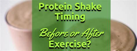 protein shake    exercise  power