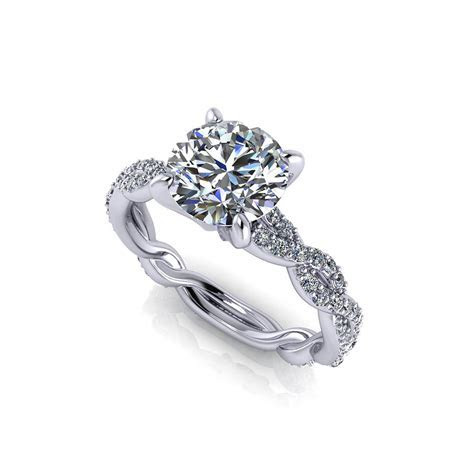 Carat Round Infinity Engagement Ring   Jewelry Designs