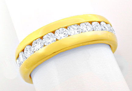 Foto 1, Brillant-Vollmemory-Ring 18K-Gelbgold-Massiv Luxus! Neu, S8447