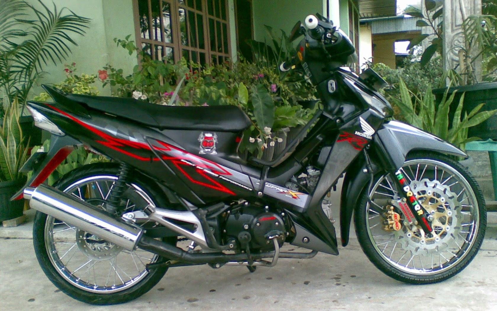 Gambar Modifikasi Motor Supra Fit 2005 Terkeren Dan Terbaru