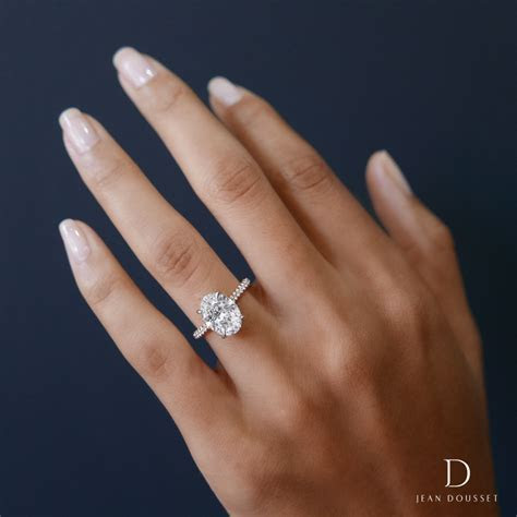 LUNA design engagement ring with two tones of metal and an