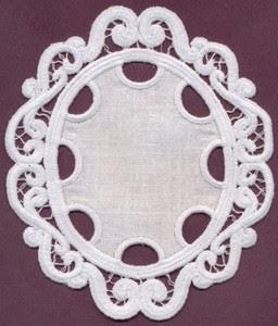 Fsl Lace Oval Applique Italian Lace Freestanding Custom