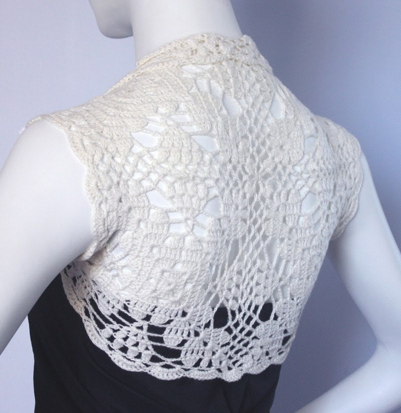 Cashmere bridal bolero shrug -- short jacket size S M L custom 11 colors - WearableArtz