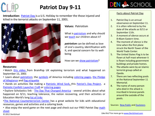 Free Patriot Day 9/11 Activities and Printables   Free Homeschool ...