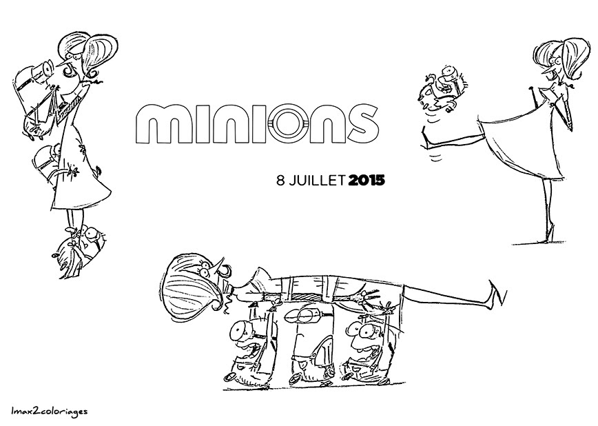 Minions Para Colorear Bob Stuart Y Kevin Dibujos Para Colorear