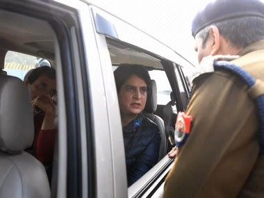 Rahul and Priyanka Gandhi were stopped from entering Meerut. Twitter@INCIndia