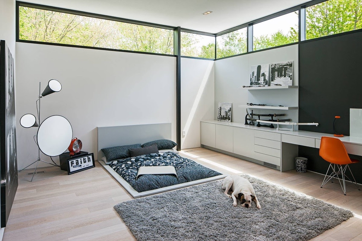 bedroom design bed on floor