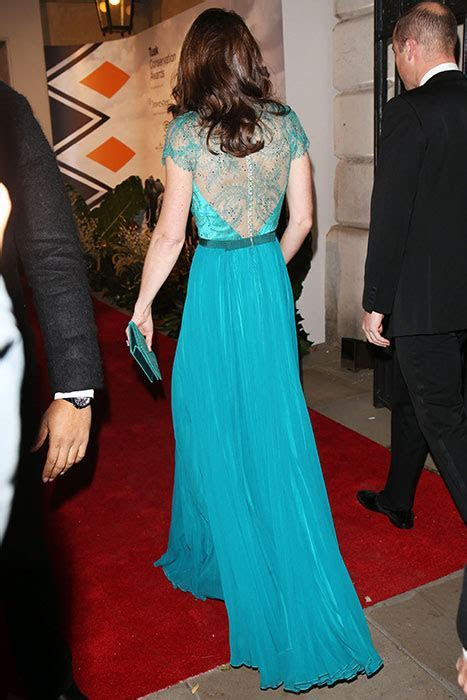 Kate Middleton is gorgeous in recycled Jenny Packham gown