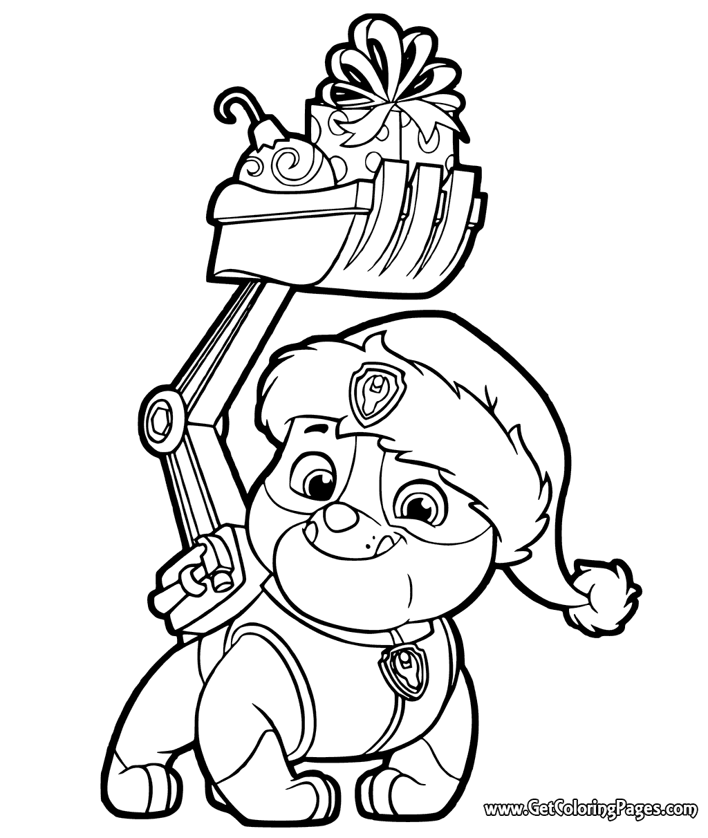 Paw Patrol Christmas Coloring Pages at GetDrawings | Free ...