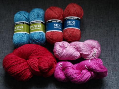 Lots of soft yarns.