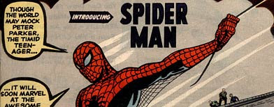 In this comic book cover released by ComicConnect/MetropolisComics, the cover of the Spider-Man comic, 'Amazing Fantasy #15,' is shown. (AP Photo/ComicConnect/MetropolisComics)