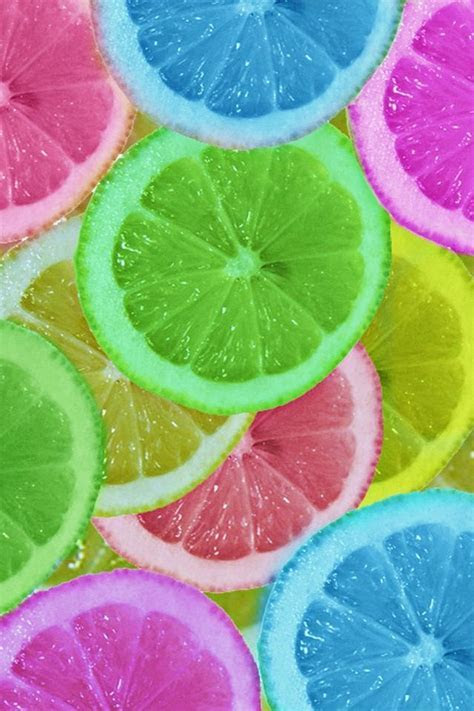 These neon fruits were died in food dye and then let soak