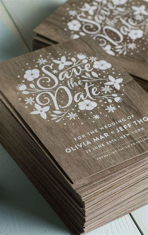 25  best ideas about Wood Invitation on Pinterest