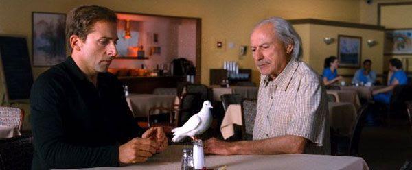Rance Holloway (Alan Arkin) shows Burt Wonderstone an old magic trick in THE INCREDIBLE BURT WONDERSTONE.