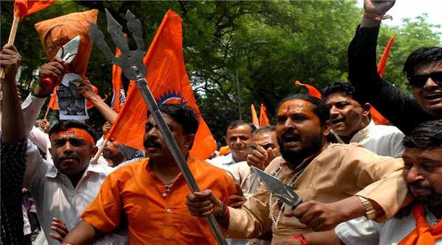 A group of Bajrang Dal activists on Sunday attacked and vandalized the Christian bhawan (building) at a Bihar town, police said.