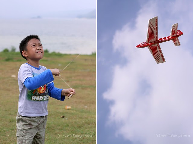 a boy and a kite