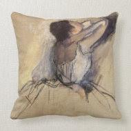 The Dancer by Edgar Degas throwpillow