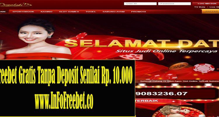 Freebet Gratis Tanpa Deposit Dewahoki777 Senilai Rp. 10.000