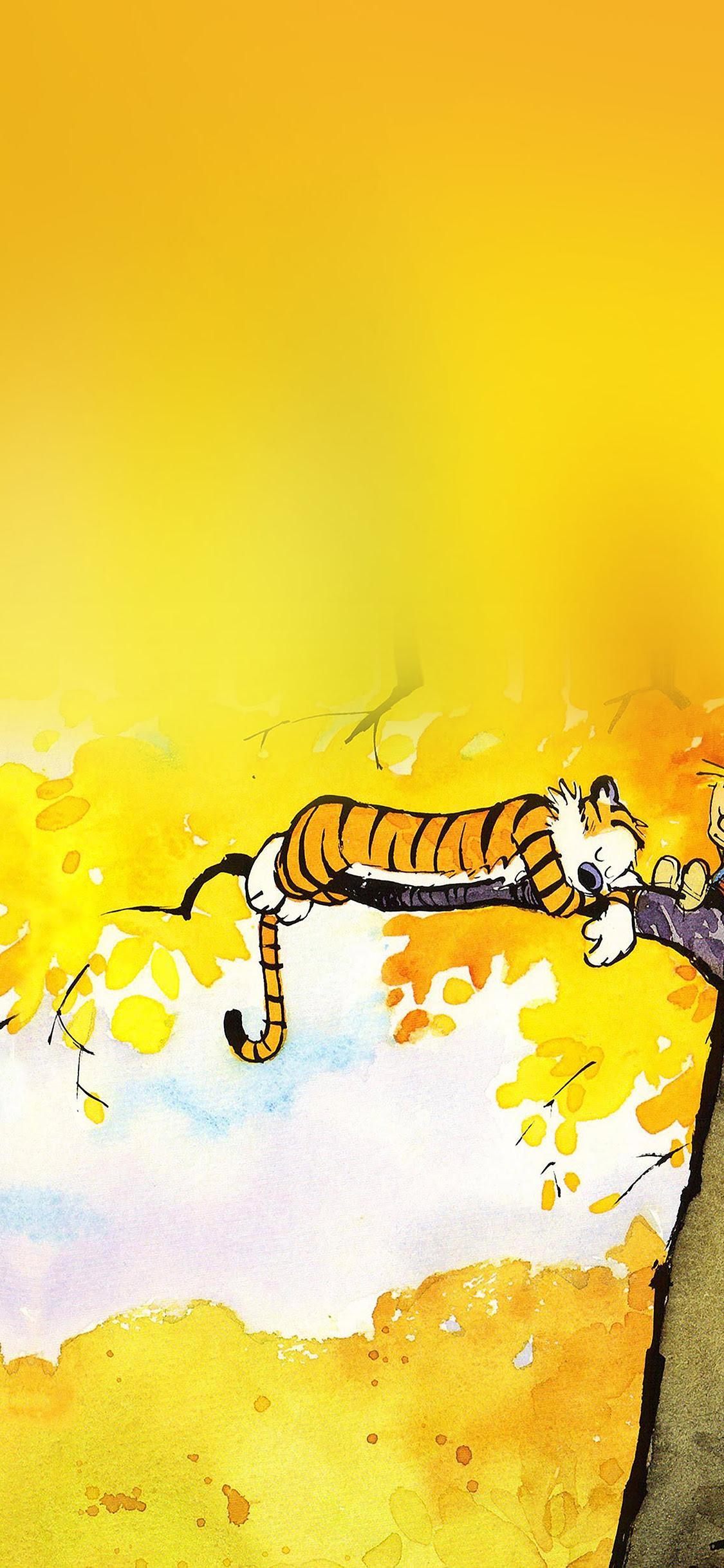 Ab20 Wallpaper Calvin And Hobbes Nap Illust